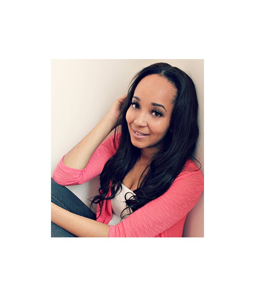 """Tyrina 18"""" Natural Straight Indian Remy Human Hair Lace Front Wig"""