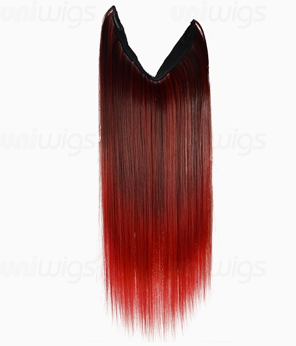 Red Ombre Clip In Hair Extensions 64