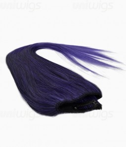 "20"" Ombre Purple Straight Heat Friendly Synthetic Flip & Clip In Hair Extension"