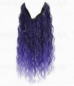 Shop curly flip in hair extensions at uniwigs 20 ombre purple curly heat friendly synthetic flip clip in hair extension pmusecretfo Image collections