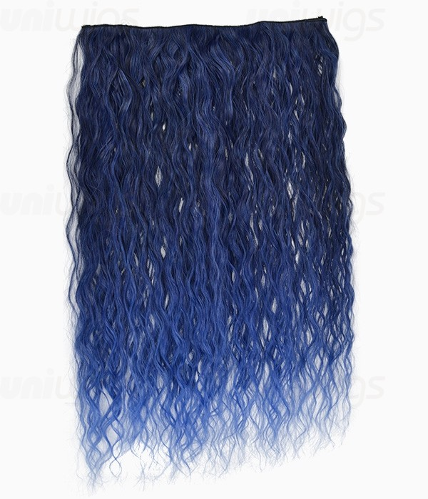 20 ombre blue curly heat friendly synthetic flip clip in hair 20 ombre blue curly heat friendly synthetic flip clip in hair extension pmusecretfo Gallery