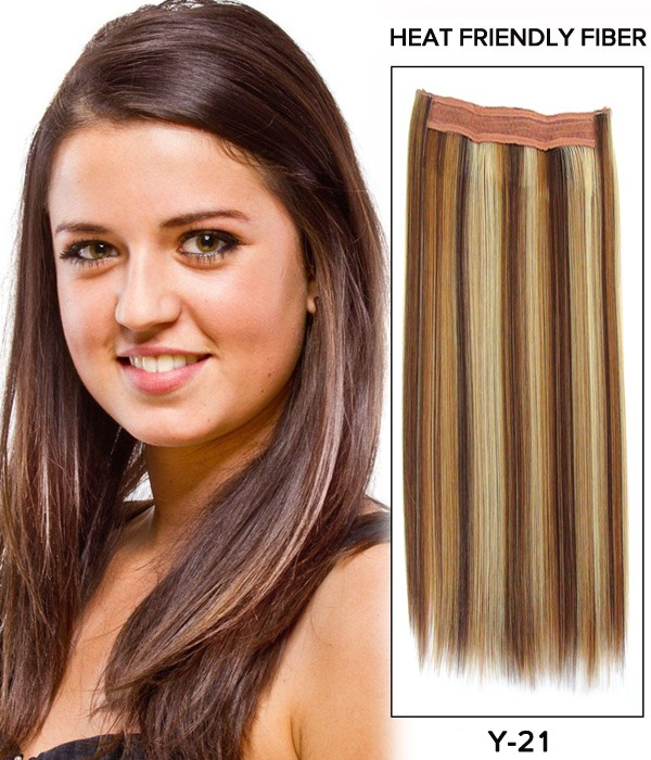 20 Straight Synthetic Miracle Wire Uni Hair Extension E52001 Y 21