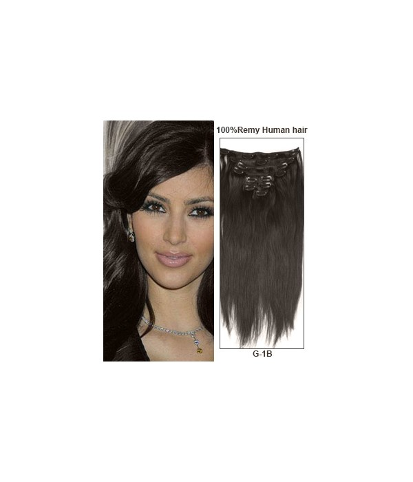 16 Off Black 9 Pieces Straight Clip In Indian Remy Human Hair