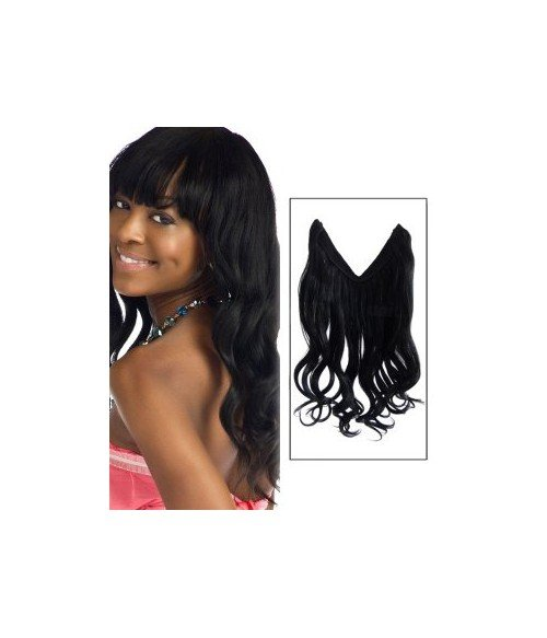 "16"" Wave Human Hair Blend Flip In Hair Extension E42001"