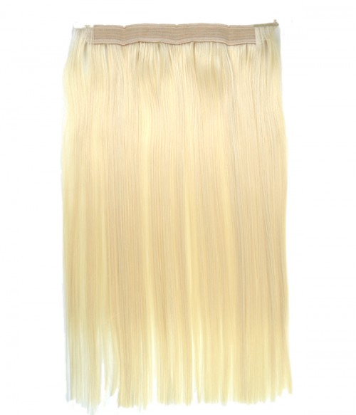 "Upgraded 20"" Straight Synthetic Flip In Hair Extension With Bead E52001-Y-613"