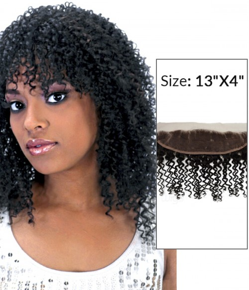 """8-20"""" 13""""x4"""" Jerry Curly Free Part/Middle Part/Three Part Brazilian Remy Human Hair Lace Frontal"""