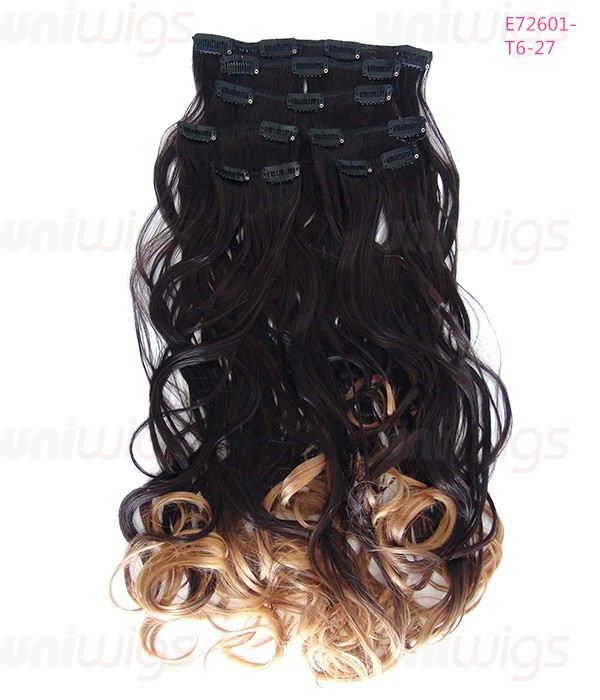 26 7 Pieces Wave Clip In Heat Friendly Synthetic Extension E72601