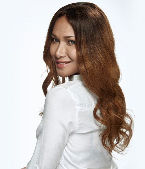 Lily Aldridge Wave Remy Human Hair Lace Wig