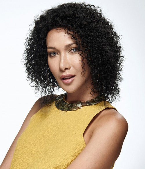 Curly 100% Remy Human Hair Silk Top Full Lace Wig