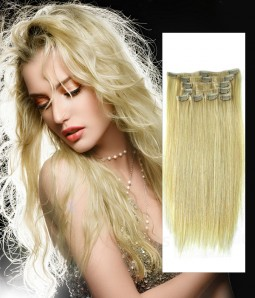 COLOR DIY - White Blonde Virgin Remy Human Hair Clip In Extension