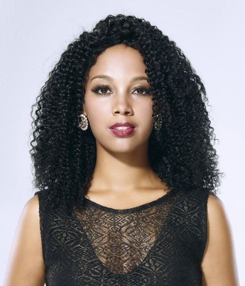 Jerry Curl 100% Indian Remy Human Hair Lace Front Wig