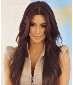 "Custom Kim Kardashian 20"" Wave Indian Remy Human Hair Ombre Color Full Lace Wig"