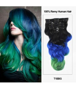 Clip in hair extensions best hair extensions clip in uniwigs 18 7 pieces triple ombre color body wave clip in virgin remy human hair extension pmusecretfo Image collections