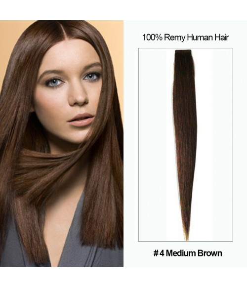 "16"" Virgin Remy Human Hair 20 Pieces Set Tape Hair Extension"
