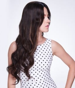 Kate Beckinsale Wave Virgin Remy Human Hair Lace Wig