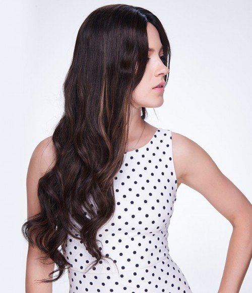 """Custom Kate Beckinsale 20"""" Wave Indian Remy Human Hair Full Lace Wig"""