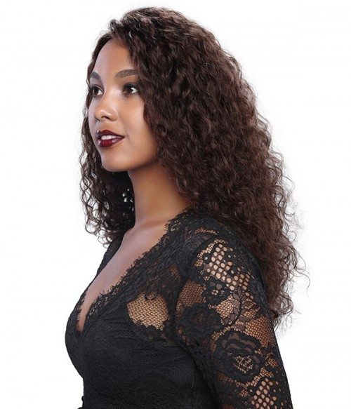 Deep Wave 100% Remy Human Hair Glueless Full Lace Wig
