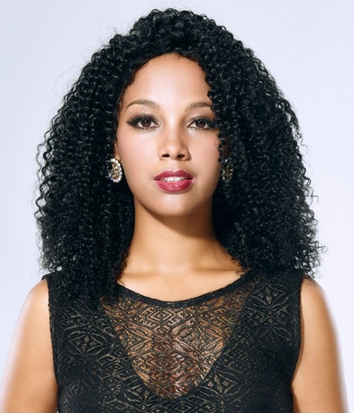 Jerry Curl 100% Indian Remy Human Hair Silk Top Full Lace Wig