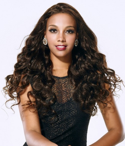 Loose Curl 100% Indian Remy Human Hair Lace Front Wig