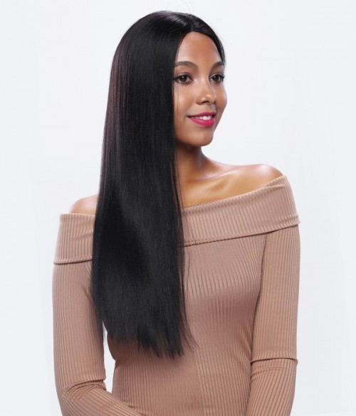 Straight Remy Human Hair Silk Top Glueless Full Lace Wig