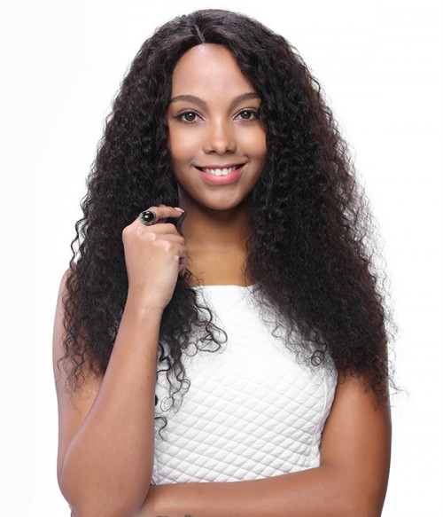 Wavy 100% Indian Remy Human Hair Silk Top Glueless Full Lace Wig