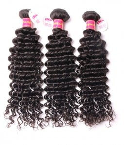 3 Bundles Deep Wave 6A Brazilian Unprocessed Virgin Remy Hair Weave