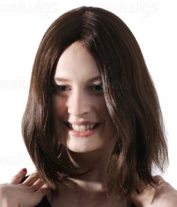 "Jasmine 12"" Remy Human Hair Injected Skin Top Jewish Wig"