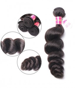 Loose Wave Brazilian Remy Human Hair Weave