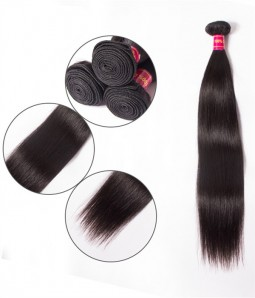 Straight Brazilian Remy Human Hair Weave