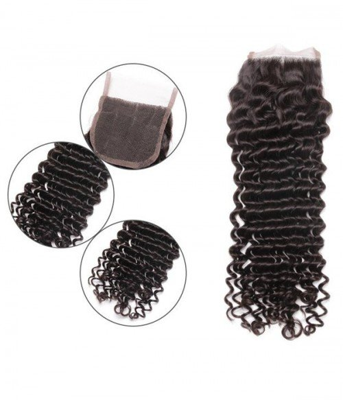 """4""""*4"""" Deep Curly Lace Closure"""