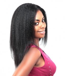 Kinky Straight 100% Human Hair Lace Wig - Quick Change Hair