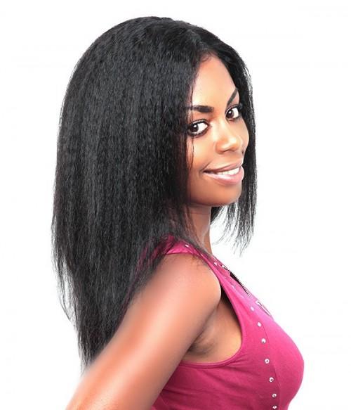 Kinky Straight 100% Human Hair Lace Wig