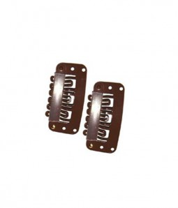 "1.1"" Hair Clips- Brown"