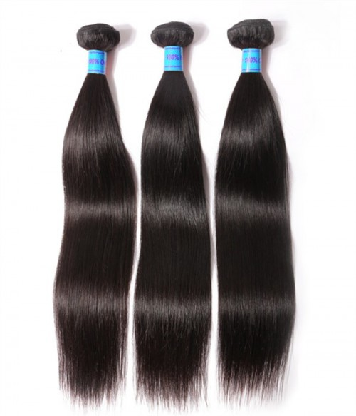 Unprocessed Straight 6A Peruvian Virgin Human Hair Weave