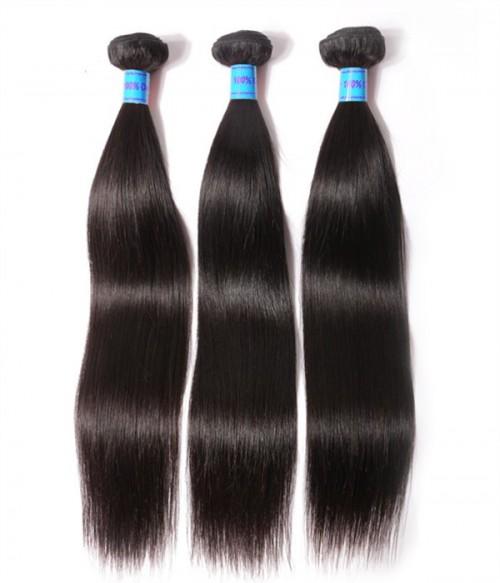 Unprocessed Straight 6A Peruvian Virgin Human Hair Weave