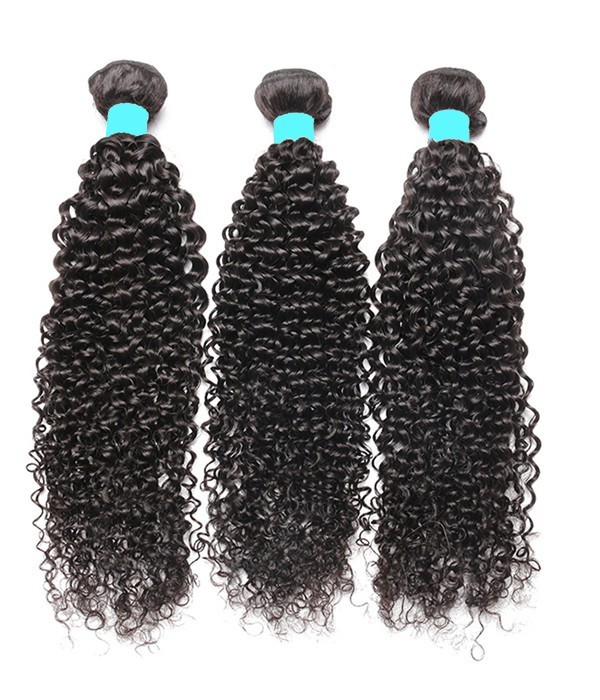 3 Bundles Kinky Curly 6a Peruvian Unprocessed Virgin Human Hair