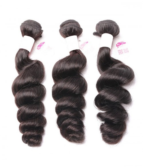 Unprocessed Loose Wave 6A Malaysian Virgin Human Hair Weave