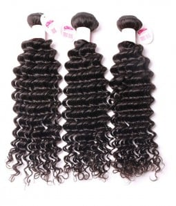 3 Bundles Deep Curly Virgin Human Hair Weave