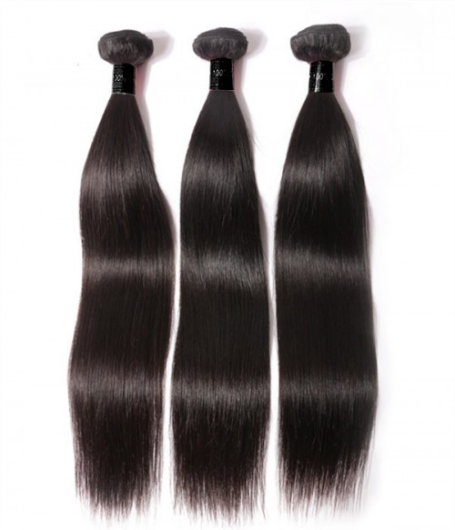6A Unprocessed  Indian Straight Virgin Remy Hair 3Pcs Lot Hair Weave