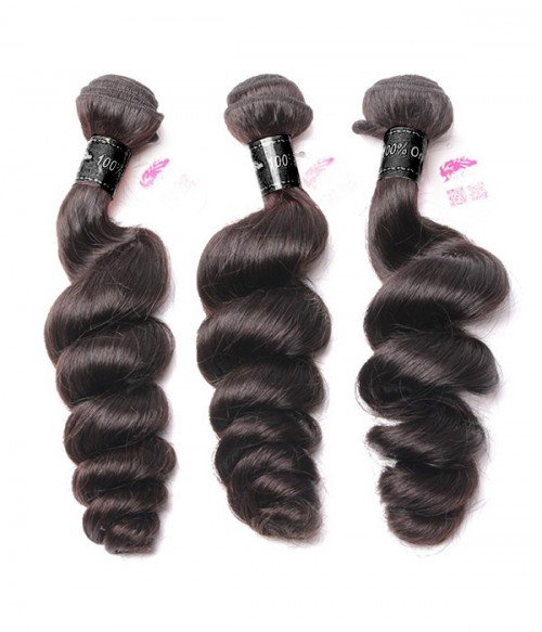 6A Unprocessed Indian Loose Wave Virgin Remy Hair 3Pcs Lot Hair Weave