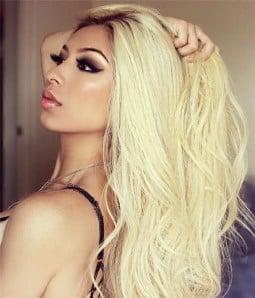 Nicki Minaj Wave Remy Human Hair Ombre Color Lace Wig