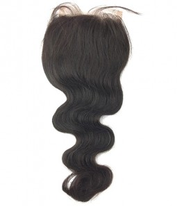"4""x4"" Body Wave Brazilian Remy Human Hair Lace Closure"