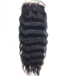 "6""x6"" Charleigh Wavy Remy Human Hair Lace Hair Topper"