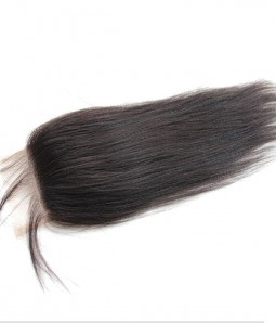 "5""x5"" Yaki Straight Brazilian Remy Human Hair Lace  Hair Topper"