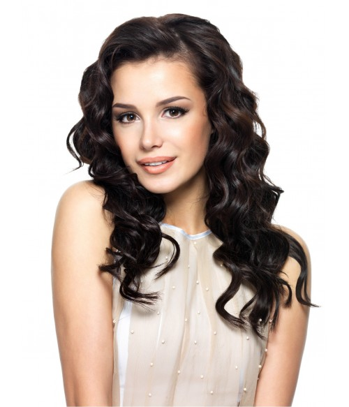"""4""""x5"""" Deep Wave 8-20"""" Free Part/Middle Part/Three Part Remy Human Hair Top Closure"""