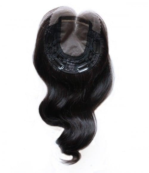 Vickie Wavy Mono Human Hair Topper