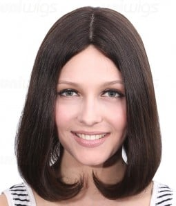 "Dana 12"" Remy Human Hair Injected Skin Top Jewish Wig"