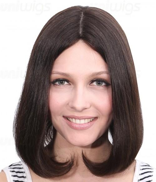 "Dana 12"" Remy Human Hair Injected Skin Top Jewish Wig"