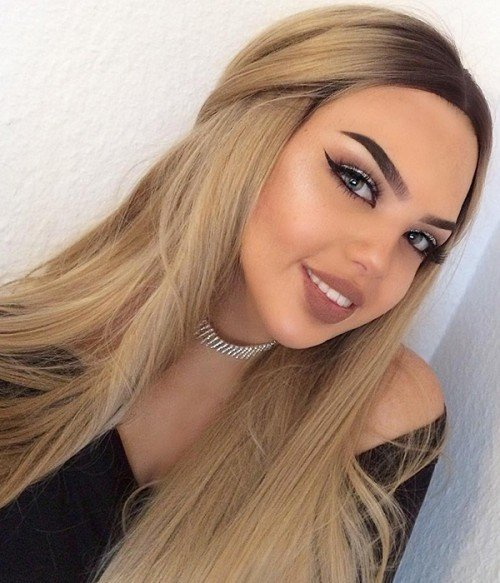 Sunshine Blonde Long Synthetic Lace Front Wig