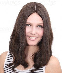 "Maya 14"" Remy Human Hair Injected Skin Top Jewish Wig"